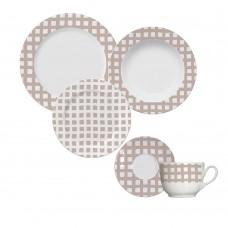 Aparelho de Jantar e Chá 30 Peças Vichy Blush Germer